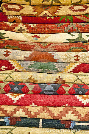 Free Stack Of Handlooms Stock Photography - 20071152