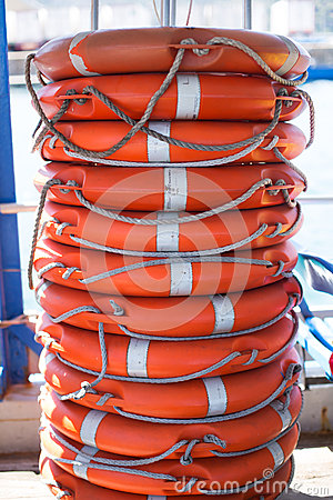 Free Stack Of Lifebuoy Stock Image - 57613631