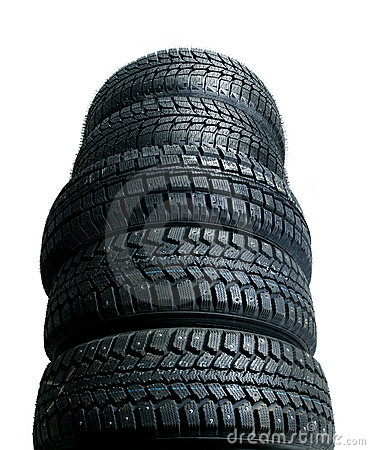 Free Stack Of New Tires Royalty Free Stock Photo - 3282605