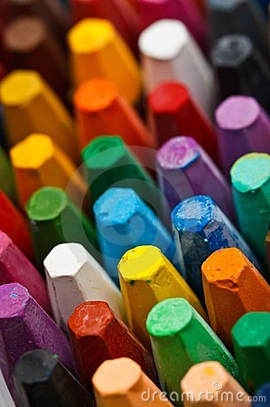 Free Stack Of Oil Pastels Royalty Free Stock Photos - 23524798