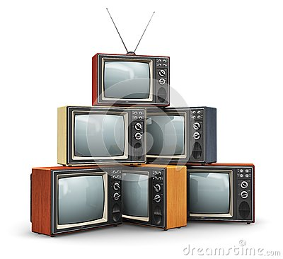 Free Stack Of Old TV Royalty Free Stock Photo - 39840025