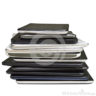 Free Stack Of Pending Repair Of Defective Tablet Stock Photo - 49329360