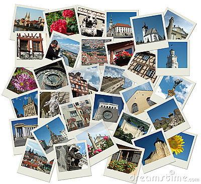 Free Stack Of Polaroid Shots With European Landmarks Royalty Free Stock Image - 11254096