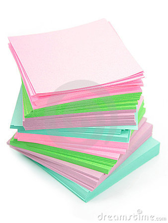 Free Stack Of Post-its Royalty Free Stock Photography - 483237
