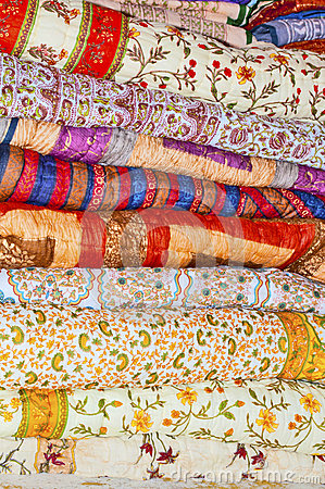 Free Stack Of Quilts Stock Image - 26198211