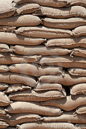 Free Stack Of Sandbags Stock Photography - 6112832