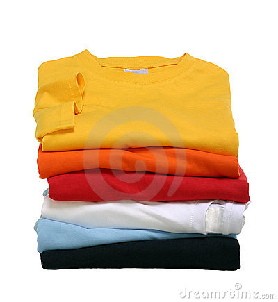 Free Stack Of T-Shirts Stock Images - 15362354