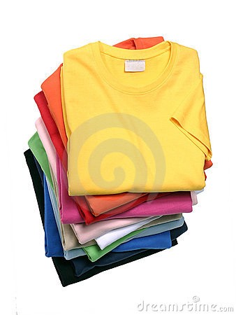 Free Stack Of T-Shirts Stock Images - 15729384