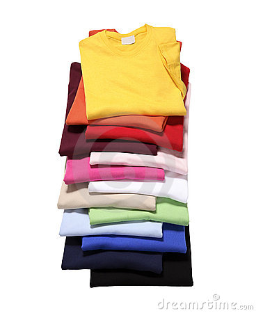 Free Stack Of T-Shirts Stock Photo - 20424110