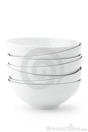 Free Stack Of White Bowls Royalty Free Stock Photography - 14910567
