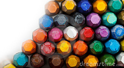 Stack of oil pastels