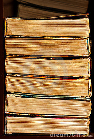 Stack of old book