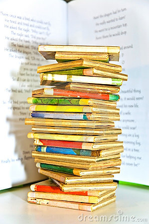 Stack of Old Children s Books