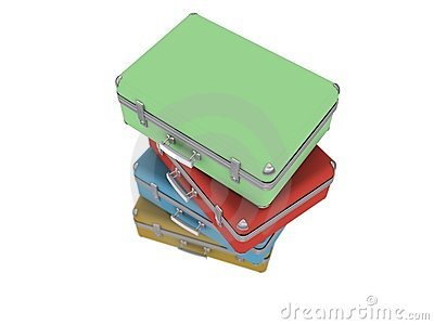 Stack of old luggage