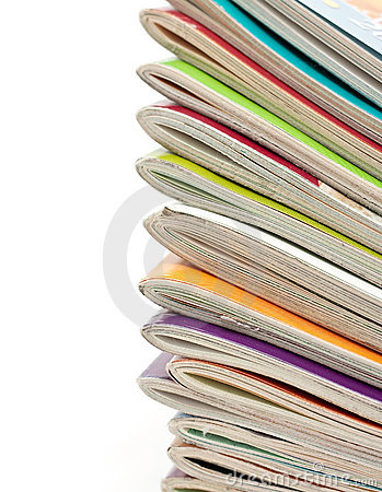 Stack Of Old Magazine Stock Photo - Image: 18511660
