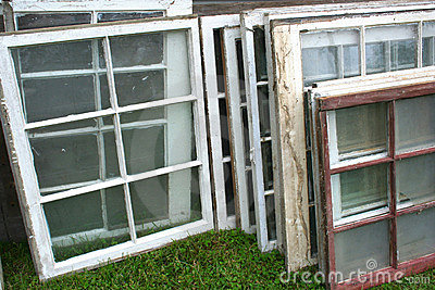 Stack of Old Windows