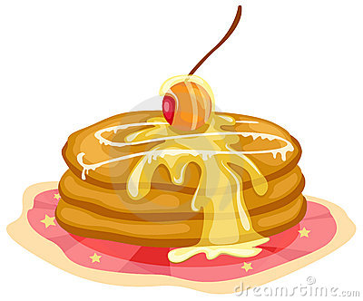 Stack of pancakes with syrup