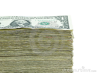 Stack of paper US currency