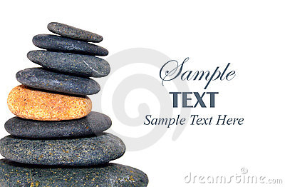 Stack of Pebbles with copy space