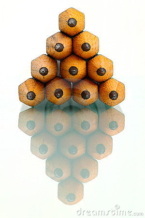Stack of pencil isolation