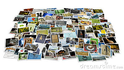 Stack of photos - perspective