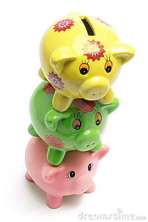 Stack of Piggy Banks