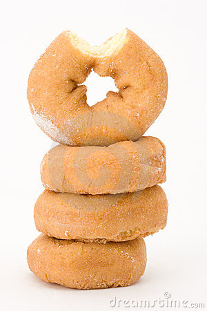 Stack of plain donuts