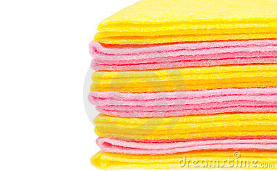 Stack of rags with blank place