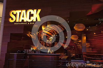Stack restaurant at the Mirage in Las Vegas, NV on August 11, 20 Editorial Photography