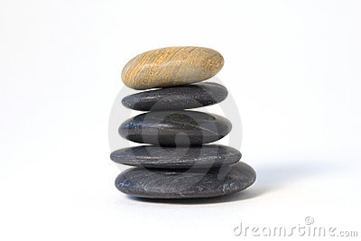 Stack of river stones