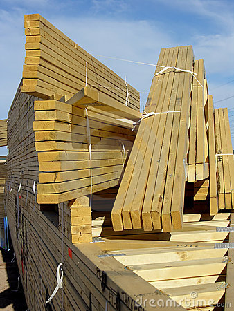 Stack of Roof Trusses