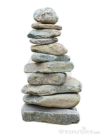 Stack of rough stones