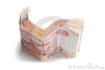 Stack of Russian money