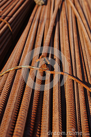 Stack of rusty bars