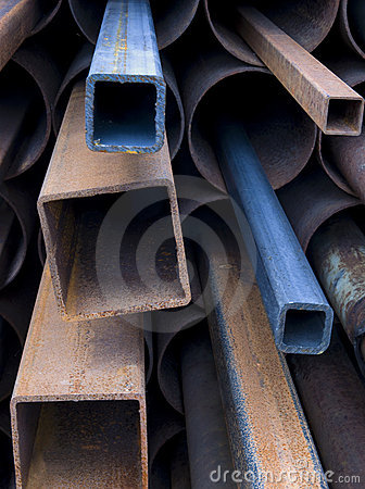 Stack Of Rusty Steel Pipes Royalty Free Stock Photography - Image: 6917497
