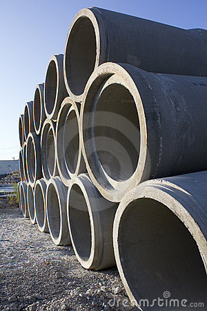 A Stack of Sewer Conduit