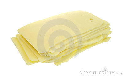 Stack of sharp cheddar cheese