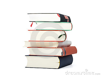 Stack of six blank books