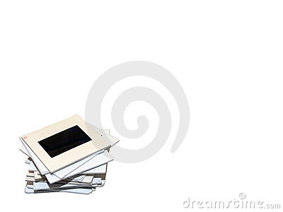 Stack of Slides on White
