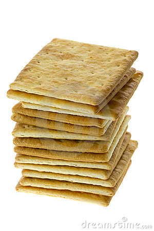 Stack of square crackers