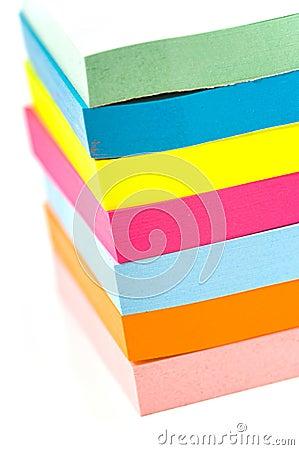 Stack of sticky notes