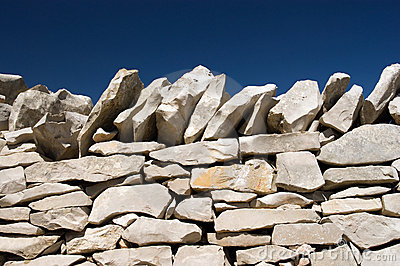 Stack stone on blue sky