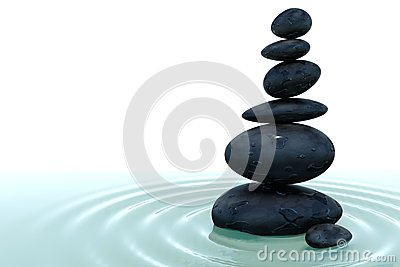 Stack of Stone in Water