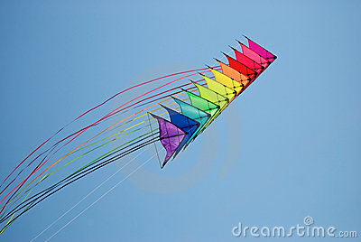 Stack of stunt kites