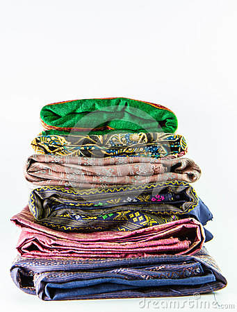 Stack of thai silk