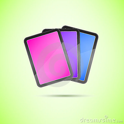 Stack of Touch Screen Tablets