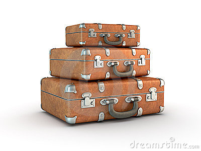 Stack of Travel Suitcases