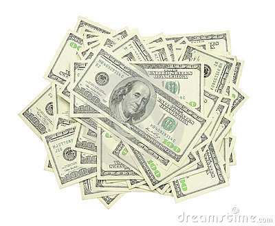 Stack of US $100 bills