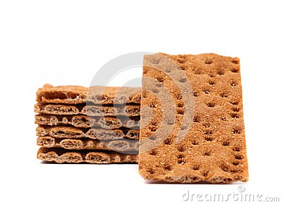 Stack of whole grain crisp bread