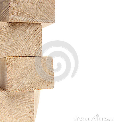 Stack of wooden 2X4s
